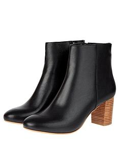 monsoon-leather-stacked-heel-ankle-boots-black