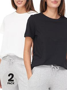 v-by-very-valuenbsp2-pack-basic-crew-neck-t-shirts-blackwhite