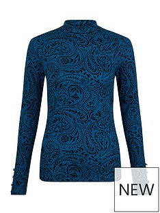 monsoon-paisley-printed-sustainable-polo-top-teal