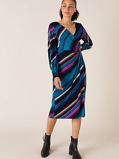 monsoon-stripe-print-wrap-jerseynbspmidi-dress-teal