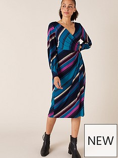 monsoon-stripe-print-wrap-jerseynbspmidi-dress-teal