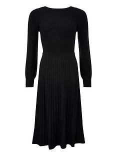 monsoon-slash-neck-dress-black