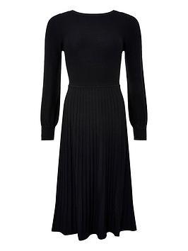 monsoon-slash-neck-dress-black