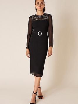 monsoon-donatella-embellished-shift-dress-black