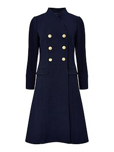 monsoon-rosaline-military-long-coat-navy