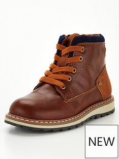 v-by-very-boys-elastic-lace-zip-boots-tan