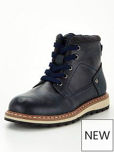 v-by-very-boys-elastic-lace-zip-boots-navy