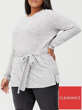 v-by-very-curve-tie-front-soft-touch-top-grey