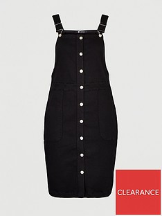 v-by-very-curve-denim-pinafore-dress-black