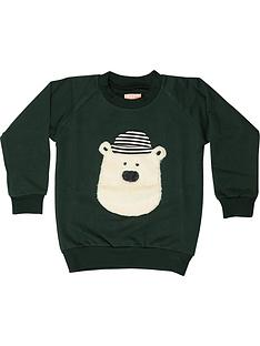wauw-capow-by-bang-bang-copenhagen-boys-hello-teddy-crew-sweatshirt-ndash-green