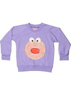 wauw-capow-by-bang-bang-copenhagen-girls-donut-don-crew-sweatshirt-ndash-purple