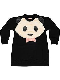 wauw-capow-by-bang-bang-copenhagen-girls-panda-power-sweat-dress-black