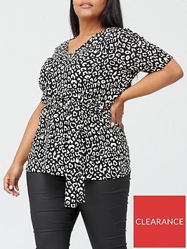 v-by-very-curve-stretch-tunic-animal-print