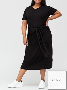 v-by-very-curve-tie-front-jersey-midi-dress-black