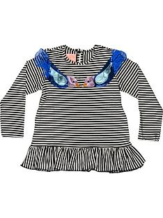 wauw-capow-by-bang-bang-copenhagen-girls-elly-birdie-stripe-t-shirt-blackwhite
