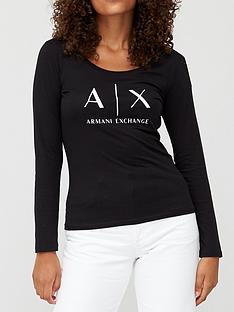 armani-exchange-pima-cotton-long-sleeve-t-shirt-black