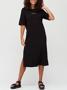 armani-exchange-t-shirt-dress-black