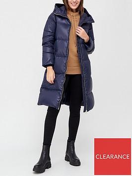 armani-exchange-longline-padded-coat-blue