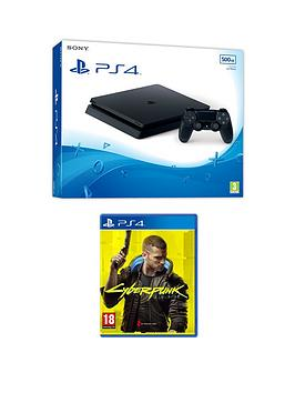 playstation-4-ps4nbspwith-cyberpunk-2077-andnbspoptional-extras--nbsp500gb-consolenbsp