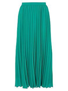 monsoon-meryl-recycled-polyester-pleated-skirt-green