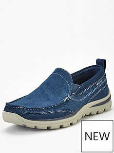 skechers-superior-milford-slip-on-shoe-navy