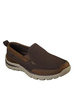 skechers-superior-milford-slip-on-shoe-brown