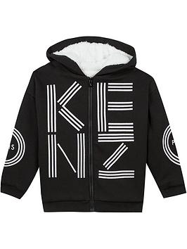 kenzo-boys-fleece-lined-logo-zip-through-hoodie--nbspblack
