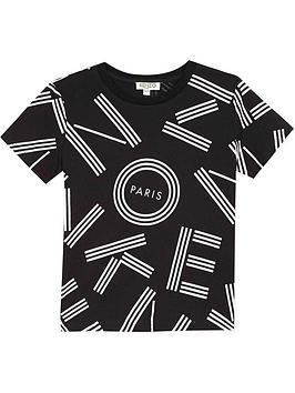 kenzo-boys-short-sleeve-logo-t-shirt-black