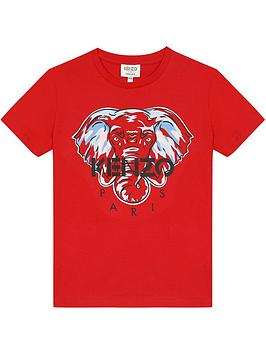 kenzo-boys-short-sleeve-elephant-t-shirt-red