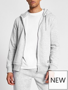 river-island-slim-fit-zip-through-hoodie-grey-marl