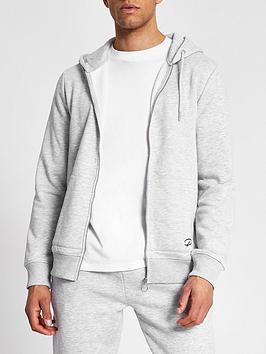 river-island-slim-fit-zip-through-hoodie-grey-marl