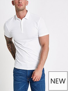 river-island-essential-regular-fit-polo-whitenbsp