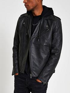 river-island-fenway-mottled-hooded-biker-jacket-black