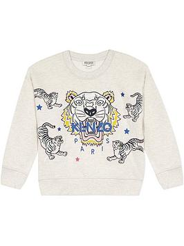 kenzo-girls-tiger-embroidered-sweatshirt--nbspgrey