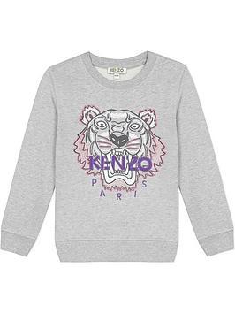 kenzo-girls-classic-tiger-embroidered-sweatshirt-grey
