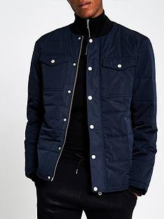 river-island-lloyd-bomber-padded-jacket-navy