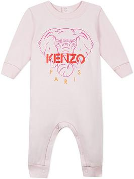 kenzo-baby-girls-embroidered-elephant-all-in-one--nbsppink