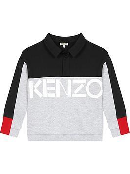 kenzo-boys-colourblock-sweat-top-greynavy