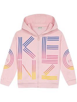 kenzo-girls-logo-zip-through-hoodie--nbsppink