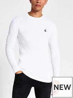 river-island-r96-logo-long-sleeve-t-shirt