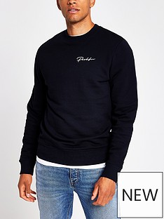 river-island-prolific-logo-crew-neck-sweatshirt-navy