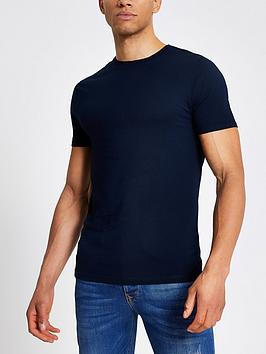 river-island-essential-muscle-fit-t-shirt-navynbsp