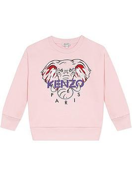 kenzo-girls-embroidered-elephant-crew-sweatshirt-pink