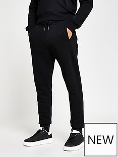 river-island-embossed-skinny-fit-jogger-black