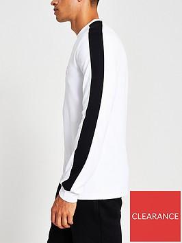 river-island-embossed-longsleeve-t-shirt