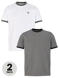 river-island-slim-fit-ringer-t-shirt-2-pack-greywhitenbsp