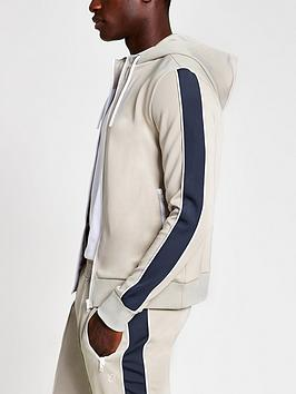 river-island-piped-panel-hoodie-light-grey