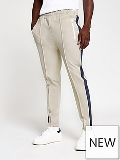 river-island-piped-panel-jogger-light-grey