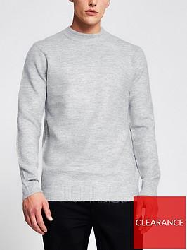 river-island-long-sleevenbspsoft-touch-jumper-light-grey