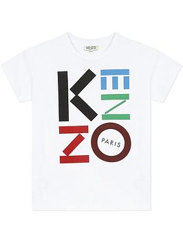 kenzo-boys-short-sleeve-logo-t-shirt-white